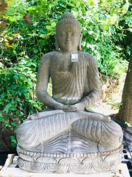 Buddha sitzend in Meditationshaltung - 130cm