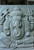 Ganesha Relief und Brunnenfigur 2 Teilig mit Becken