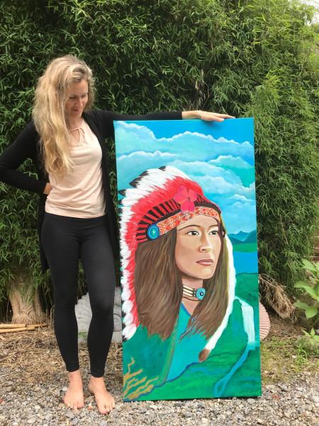 Warrior Dream - Original painting and print