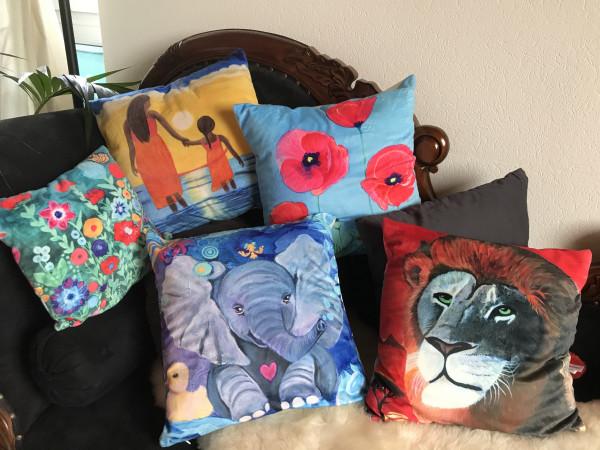 Kissen-Kunst- art print on cushion