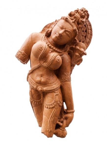 Apsara zur Seite gebeugt