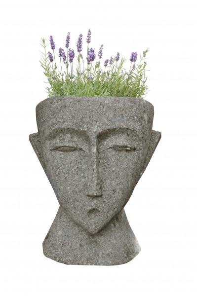 Steinschale abstrakter Kopf