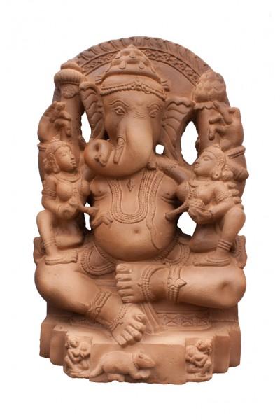 Ganesha mit Buddhi und Siddhi