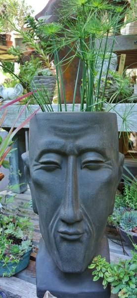 Bepflanzbarer Kopf mit Bart - 42 cm