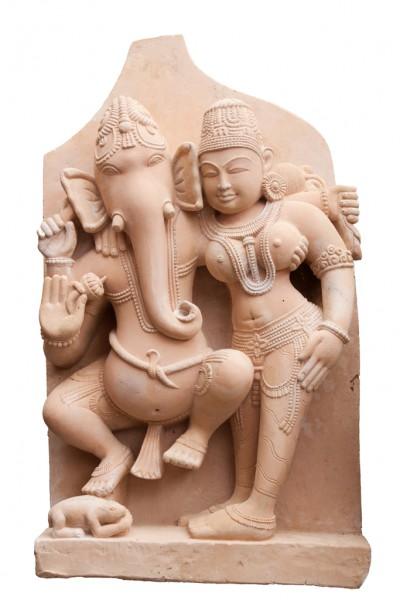 Ganesha und Shakti stehend