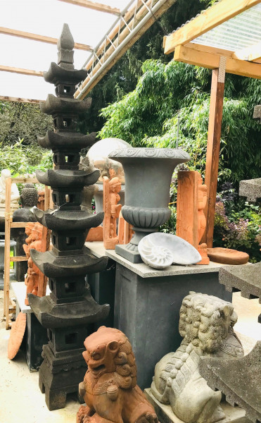 Japanische Steinpagode, 7 Ebenen - 195cm