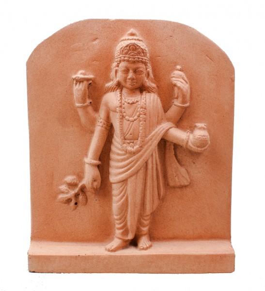 Dhanvantari - Schutzherr der Ayurveda- Relief