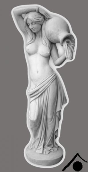Frau mit Krug an der Schulter - 125cm