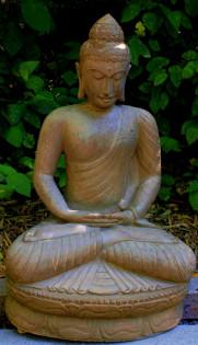 Buddha sitzend in Meditationshaltung - 87cm