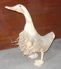 Ente aus Bambuswurzel