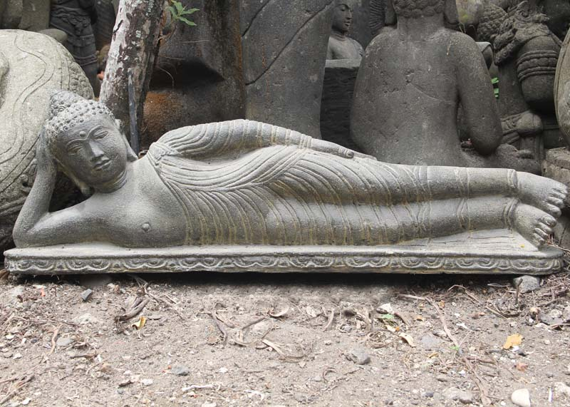 liegender buddha ca 100cm buddha liegend buddha. Black Bedroom Furniture Sets. Home Design Ideas