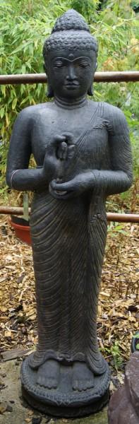 Stehender Buddha mit Rad der Lehre - 119 cm