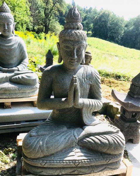 Buddha aus Riverstone sitzend- 84cm