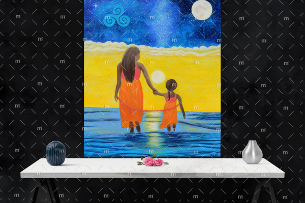 Mother love - original oil painting