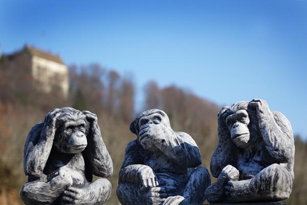 Nichts gehört, gesehen, gesagt - 3 Affen