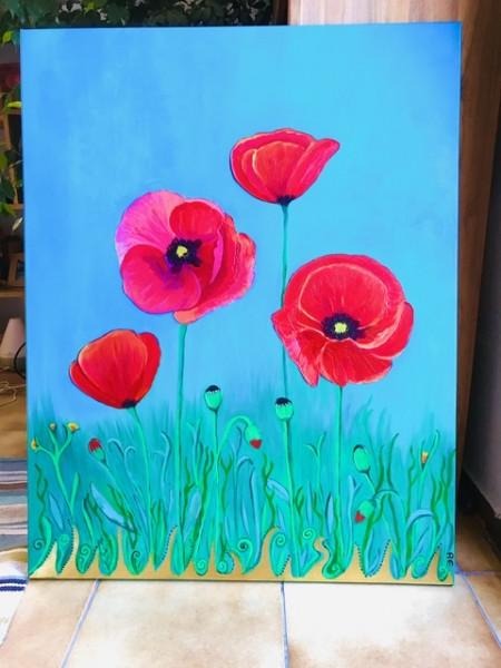Poppy dream painting - print