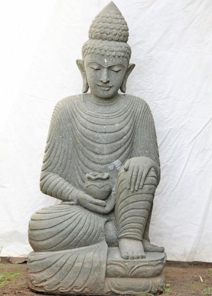 Buddha mit Gewand auf Lotusblume - ca. 103cm