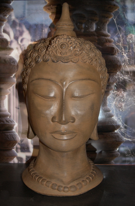 Buddhakopf aus thailand buddha k pfe buddha steinfiguren steinfigurenshop asiatische - Steinfiguren buddha garten ...