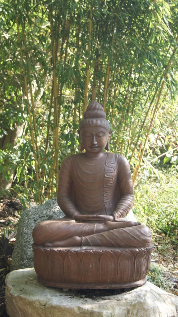 Gro er buddha 110cm steinfigurenshop asiatische steinkunst - Steinfiguren buddha garten ...