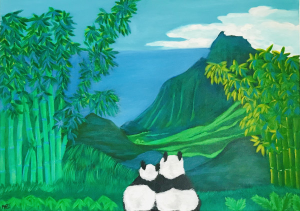 Panda Dream painting - Original painting