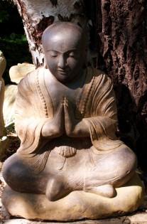Shaolin Mönch aus Flussstein