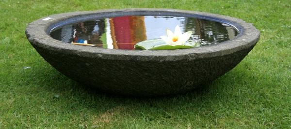 Steinschale lotus schalen brunnen garten deko for Asiatische deko garten