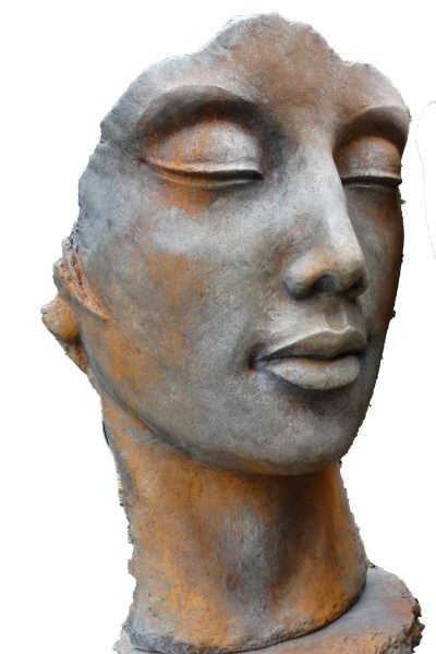 Gesicht Frau - Rosteffekt