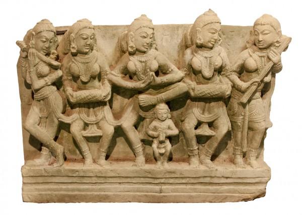 Musikgruppe Apsaras- Relief