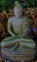 Buddha sitzend aus Riverstone- 95cm
