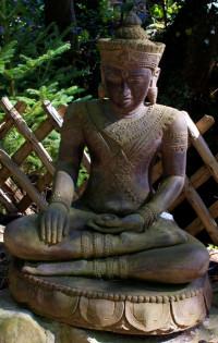Indischer Buddha auf Lotus - 93cm