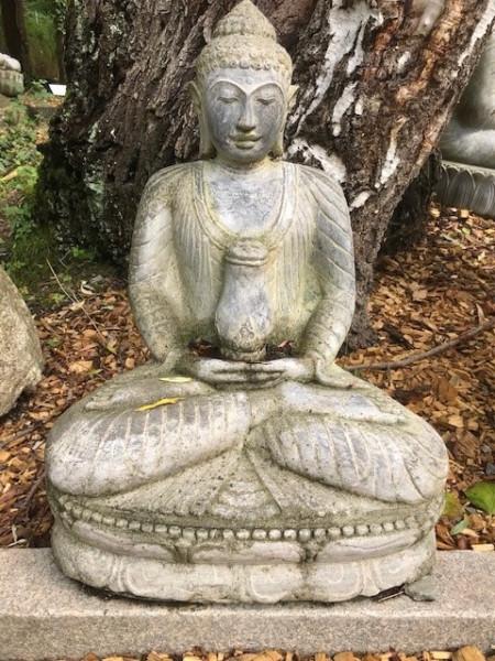 Buddha sitzend mit Krug - 60cm