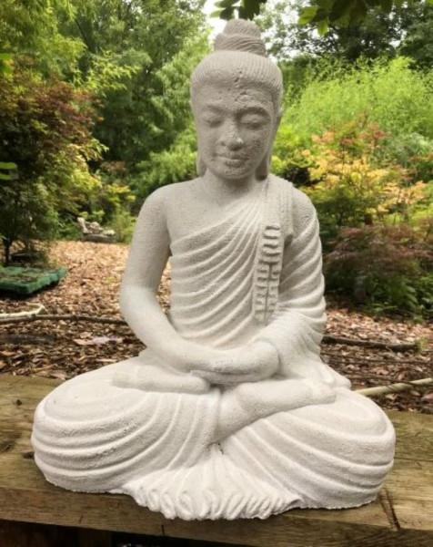 Sitzender Buddha Gandhara, weiß