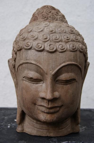 Steinfigur Buddhakopf