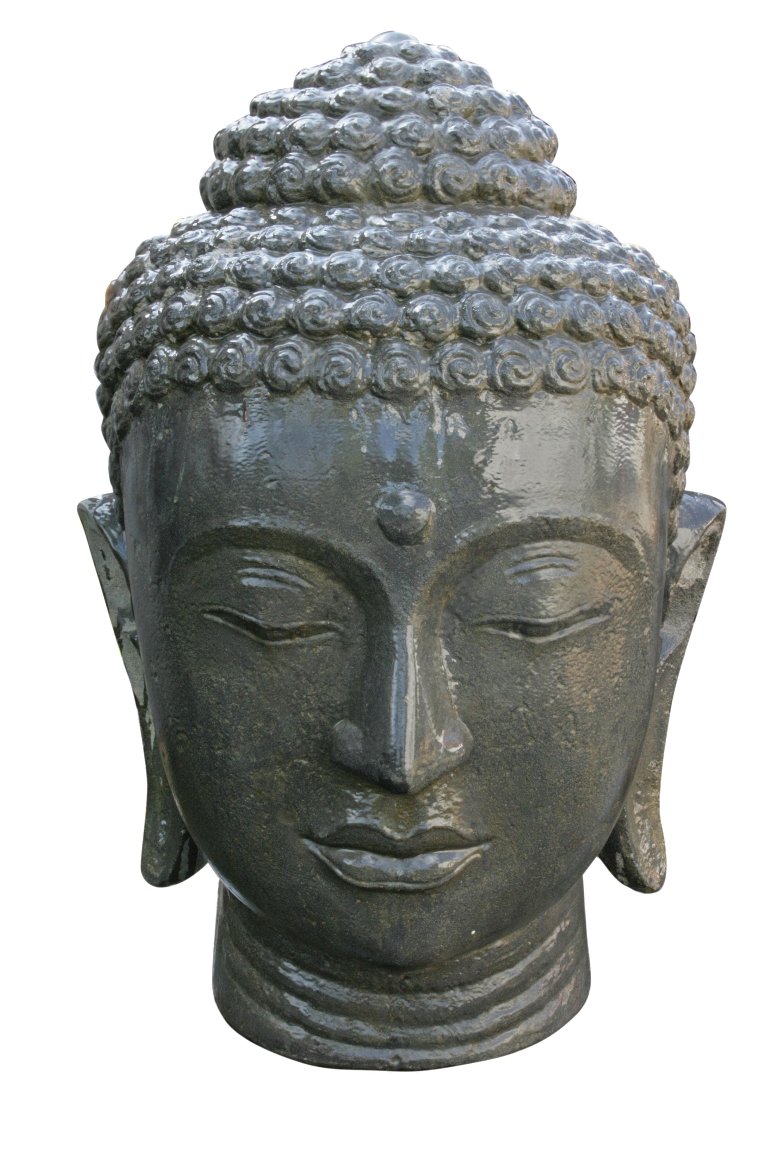 Buddha kopf ca 100cm steinfigurenshop asiatische steinkunst - Steinfiguren buddha garten ...