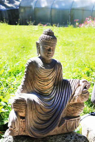 Buddha auf Lotusblume mit Gewand
