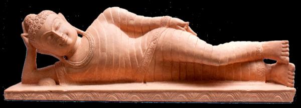 Buddha liegend - 80 cm