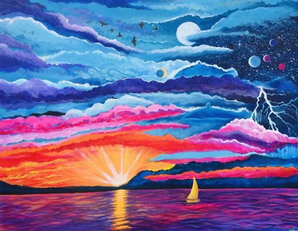 Dolphin Sky- Original painting