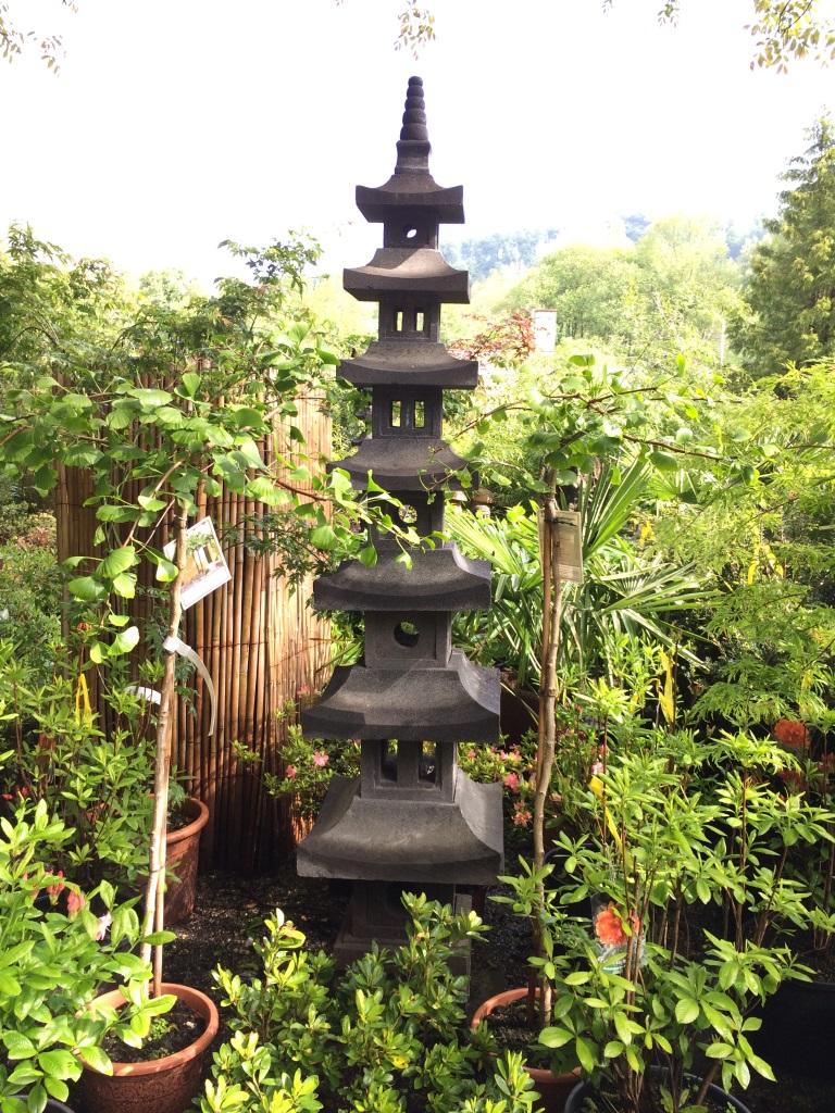Japanische steinpagode 7 ebenen 250cm asiatische steinlampen steinfigurenshop - Japanische garten bildergalerie ...