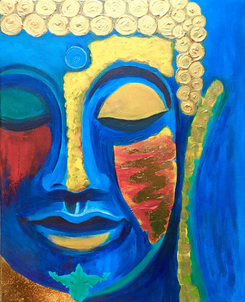 Buddha in love - painting print