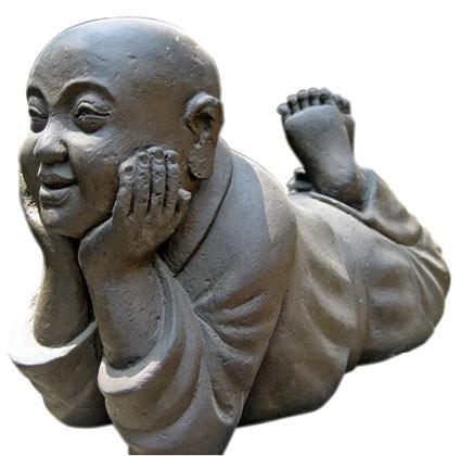 Lächelnder Mönch