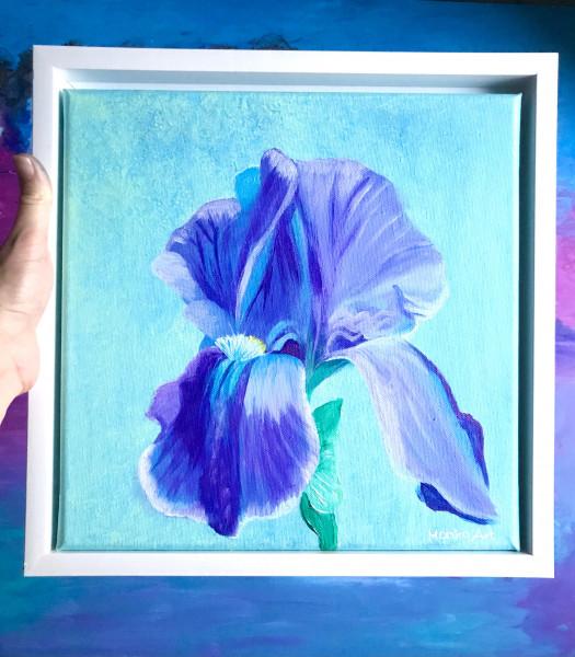 Mini Painting- IRIS FLOWER - Original im Rahmen