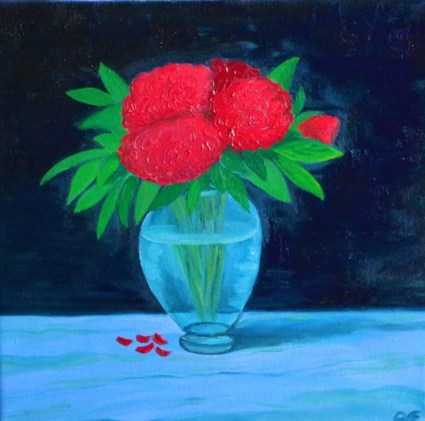 Stillleben Blumenvase Painting - Original