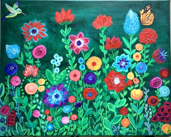 Flower paradise painting - print