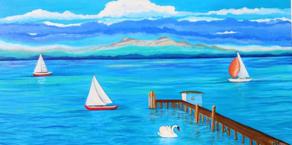 SPARKLE LAKE painting - Original und Print