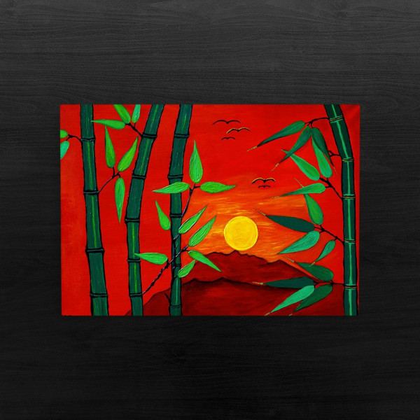 Exotic Sunrise Painting- Original und print