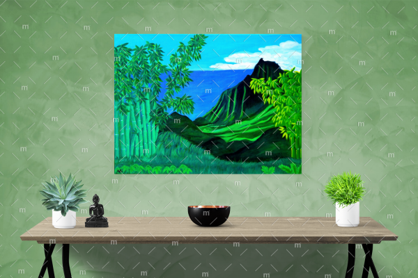 Bamboo Valley painting - print