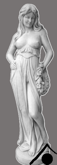 Frau mit Kranz - 150cm