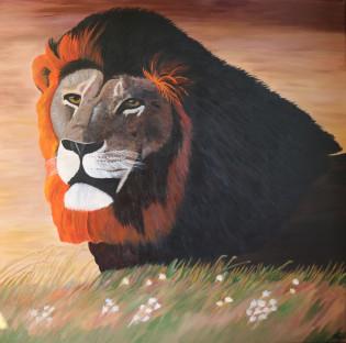 Lion painting - Original